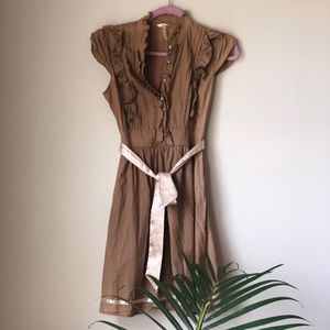 Papaya vintage style brown dress